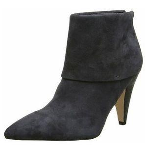 Ivanka Trump l Black Fargo Leather Ankle Bootie